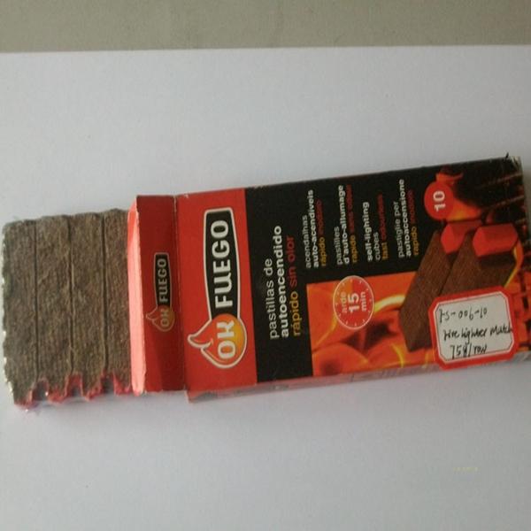 Avviamento di fuoco Piazze Quick-Luce Non Tossico In Legno di avviamento del carbone di legna