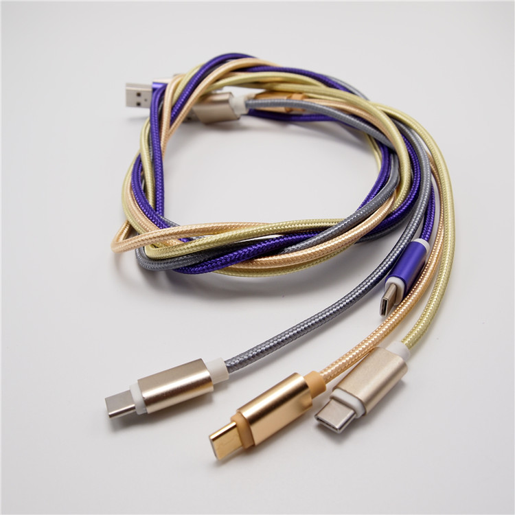 High Quality Transmission Data, Efficient Charging Nylon Braided Type-c Standard Pure Copper USB Cable For Samsung i900
