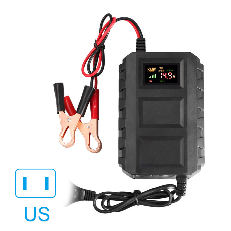 Intelligent 12V 20A Voiture Moto Automobile Chargeur de Batterie Au Plomb-Acide NOUS