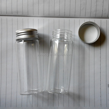 60ml 35x90mm Glass Bottle Jar Wishing Bottle With Screw Aluminum Cap