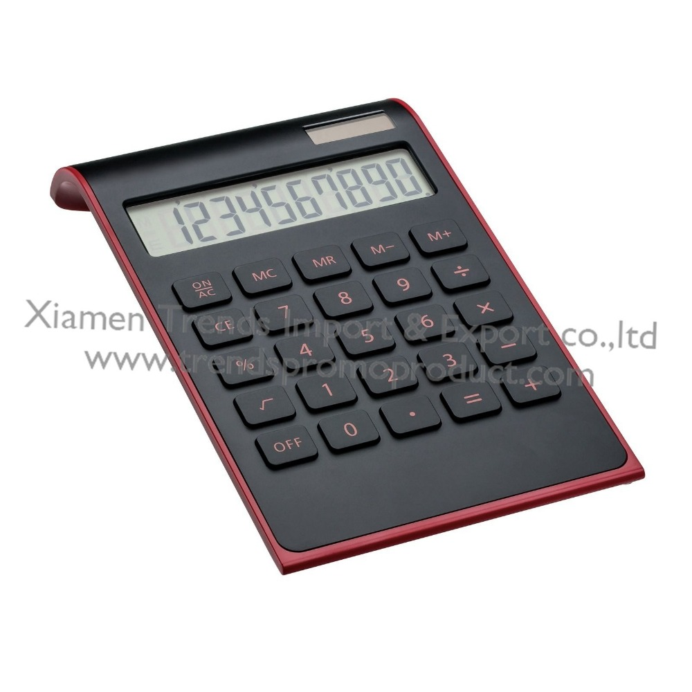 Custom Branded zonnecel calculator/10 digit plastic toetsen wit dual power calculator