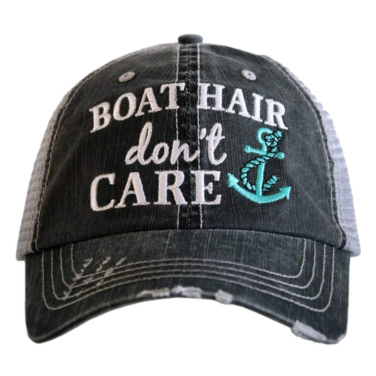 Katydid Boat Hair Don't Care Women's Trucker Hat