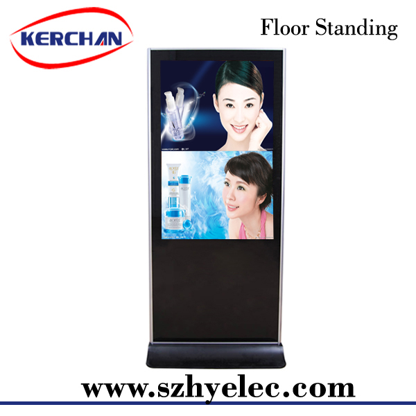 55 inch Floor standing rss feeds large advertising media player