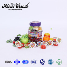 Imported food distributors,round candy doll jar,wholesale mini fruit jelly