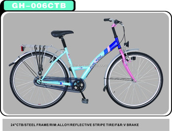 "24"" city bike colorful vintage bicycle classical ladies bike for sale"