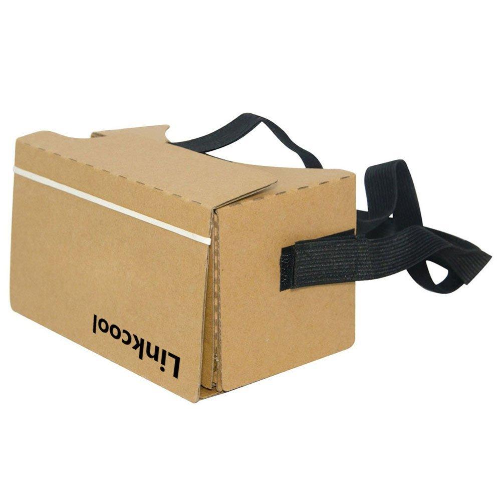 Linkcool Google Cardboard V2.0 3d Glasses Vr Virtual Reality Cardboard Kit 2015 for 3--6inch Screen