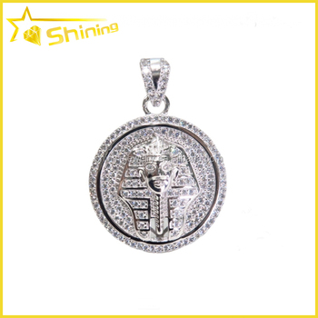 Hip Hop Mens White Gold Plating Round Ice Out Pendant With King Tut Designs Buy Round Ice Out Pendant Gold Pendant Designs Men Engraved Round Pendant Product On Alibaba Com