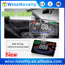 5.5 Inch E300 Car HUD Head Up Display OBDII Speed, RPM, Water Temp,Fuel Consumption,Low Voltage Automotive Digital Alarms