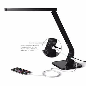 2017 Order discount dimmable led bed reading light with USB charging port ,1 hour timer