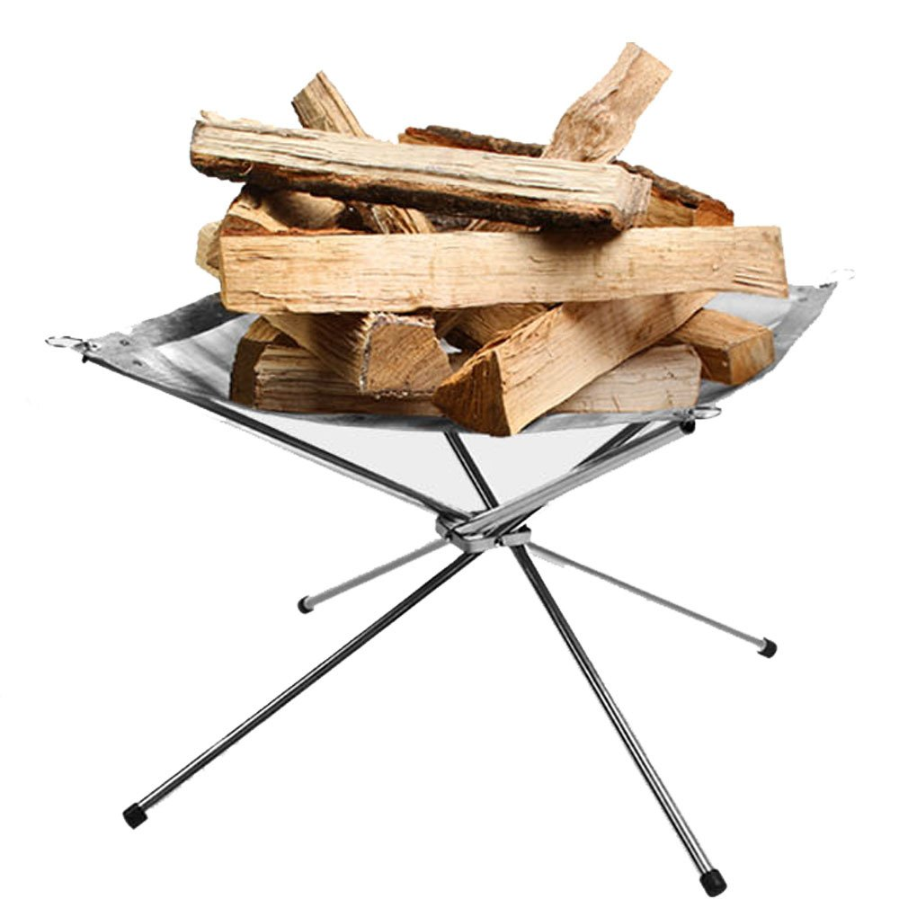 H&Z Outdoor camping stainless steel folding wood-burning stoves Carbon heating furnace burning fire Burning fire heating gas stoves