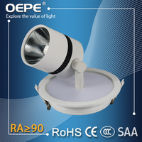 35w led spotlight use mean well hlg driver pf>0.9 led cob recessed ceiling spotlight