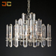 Vintage modern chandelier large crystal rock bar pendant lamp glass for home deco
