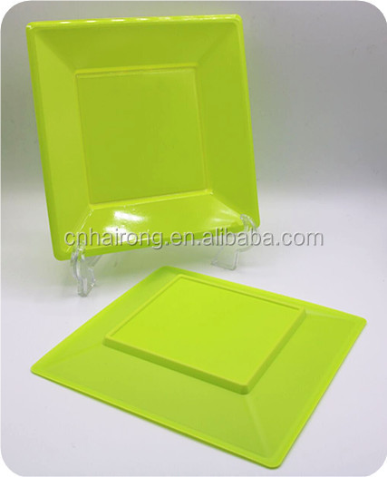 PS Material Cutlery Disposable Square Green Plastic Plates & Buy Cheap China green square disposable plates Products Find China ...