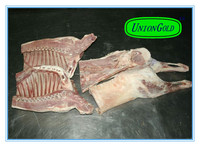 halal SKINLESS/skin-on whole lamb carcass four or six way cut