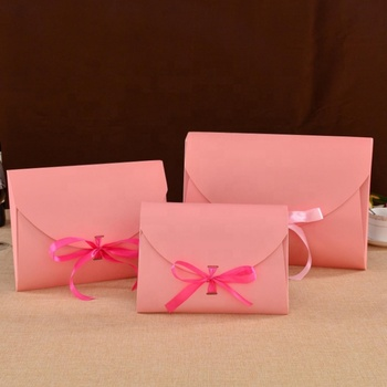 WLT5-2-8 Custom order nice design pink paper pillow box hair extension packaging, human hair bundles paper pillow box