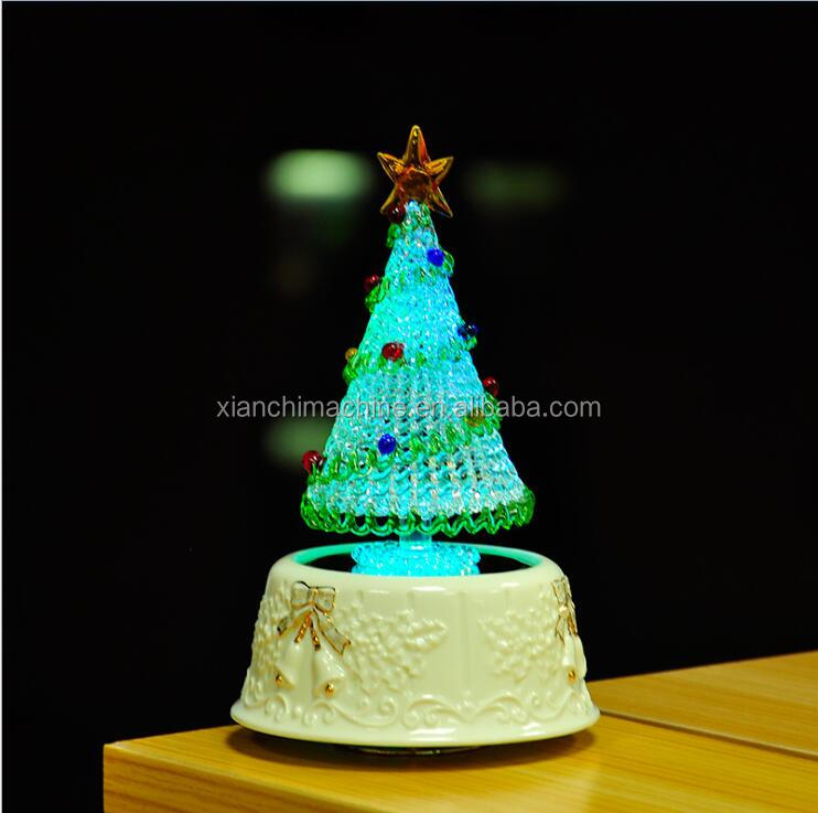 Christmas ball decoration with LED light music box