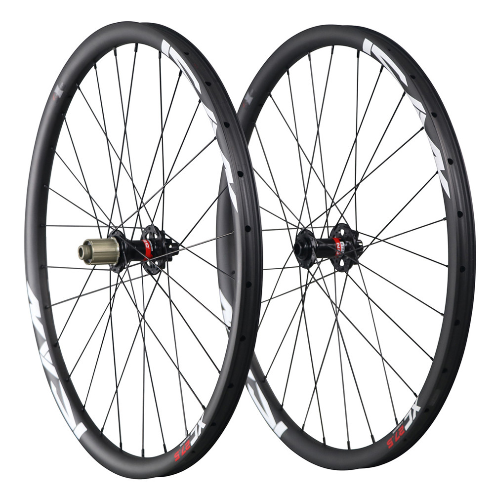 ICAN 30mm width clincher mountain bike wheels 27.5er carbon wheelset mtb
