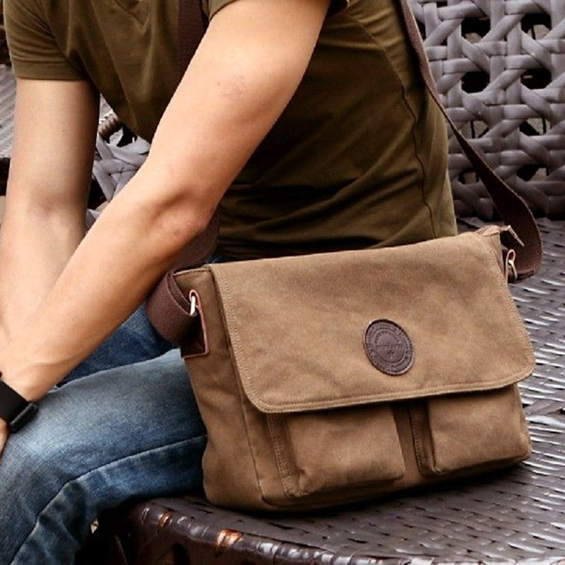 2014 new fashion men classic vintage outdoor hiking military messenger bags  students school travel messenger bags HW03021 215392e415905