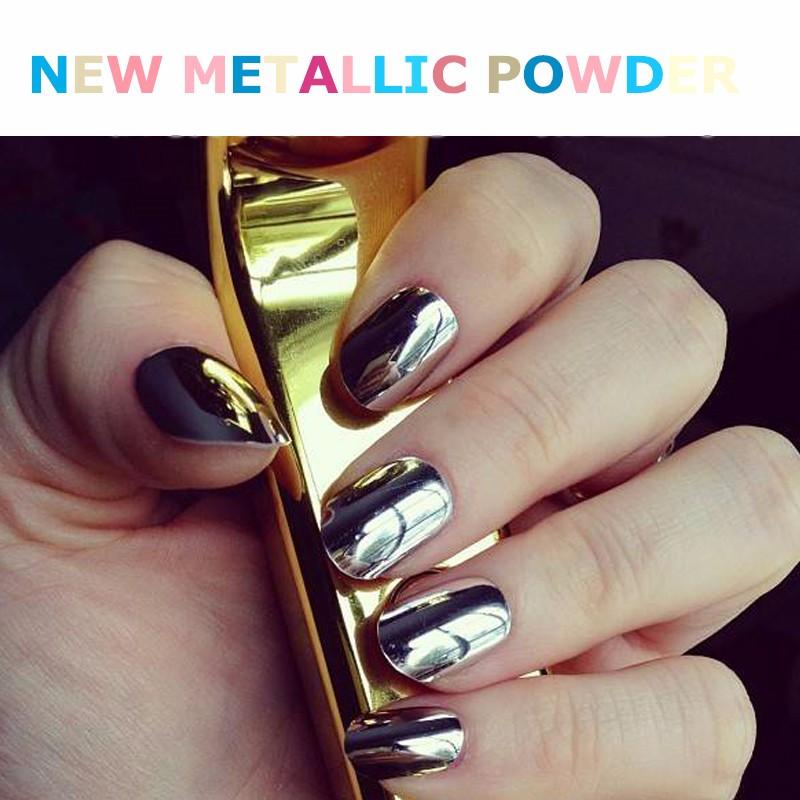 Neueste Nail Art Design Farbe Glitter Pigment Nail Magie Metallic Spiegel Nagel Chrom Pulver ...