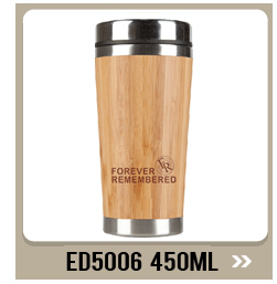 Natural Bamboo 18/8 Stainless Steel water bottle bamboo  tumbler with insulated water bottle with tea strainer and li