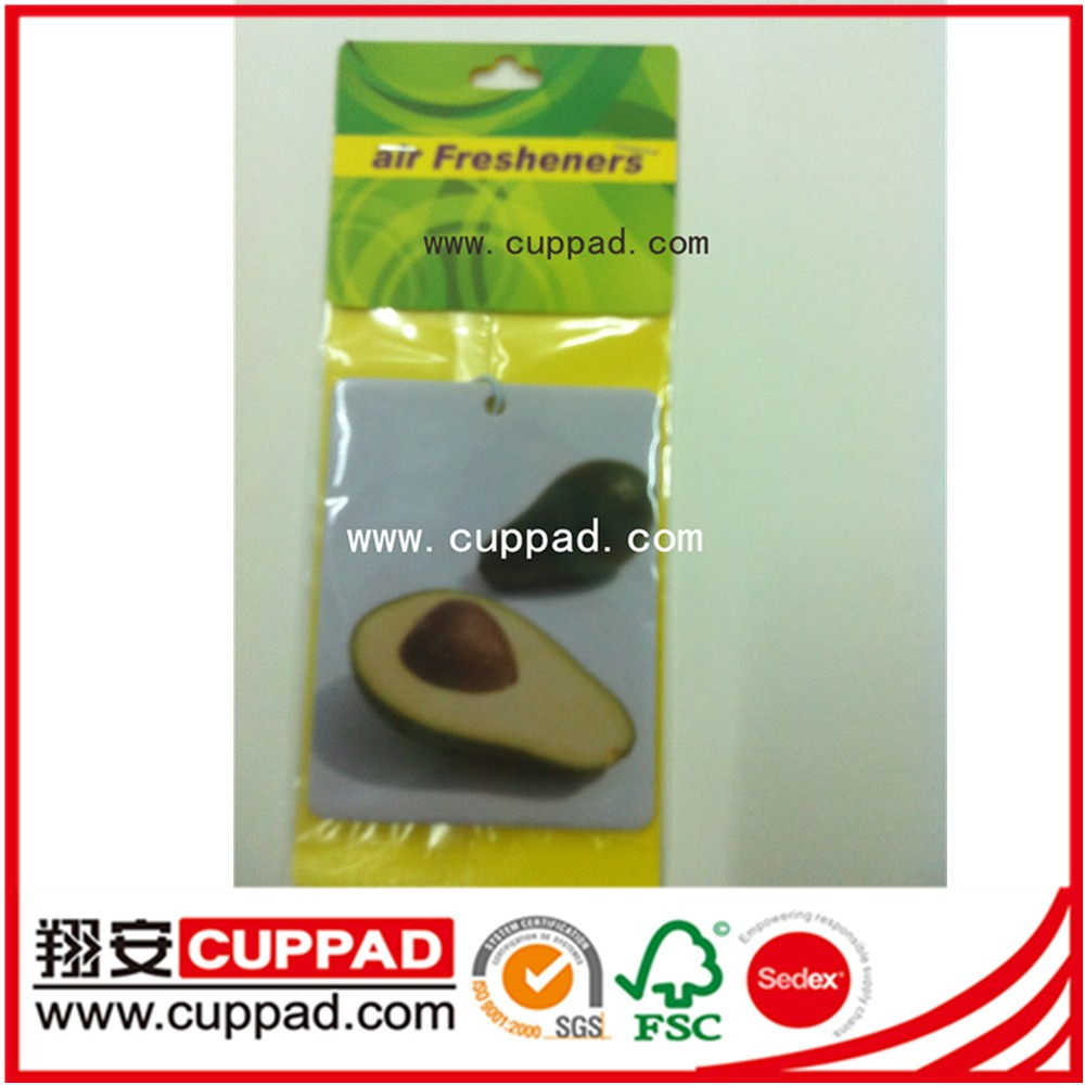 Customize Fruit shape air freshener hanging paper air freshener for car