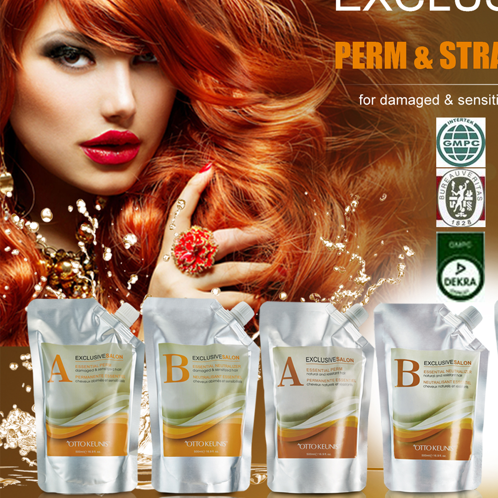 2016 HODM New Brand Fast Softening Digital Keratin Hair Perm For Natural Or Damaged Hair 500ml*2