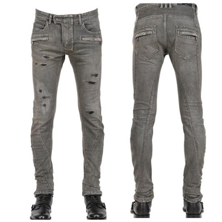 25bf4e4492f NWT BM mens jeans famous brand hole skinny jean overalls ripped men jeans  denim biker jean denim pants designer vaqueros