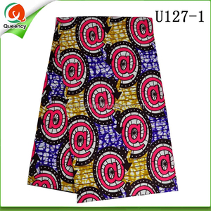 U127 Queency New Fashion Design Super Wax Lace Fabric African For Wedding and Party Garment and Handbags