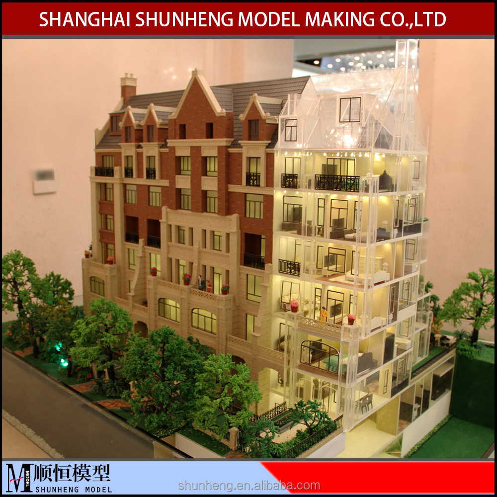 Custom miniature architectural model for villa house model/3d archotectural model maker from China