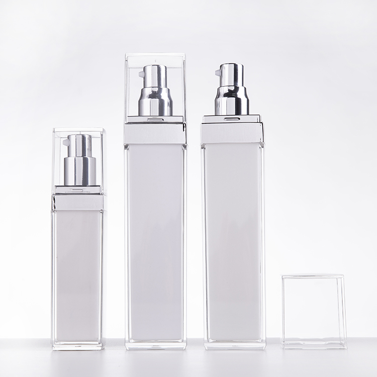 100ml Trendy popular style round  white  cosmetic plastic bottle for perfume with fine mist spray