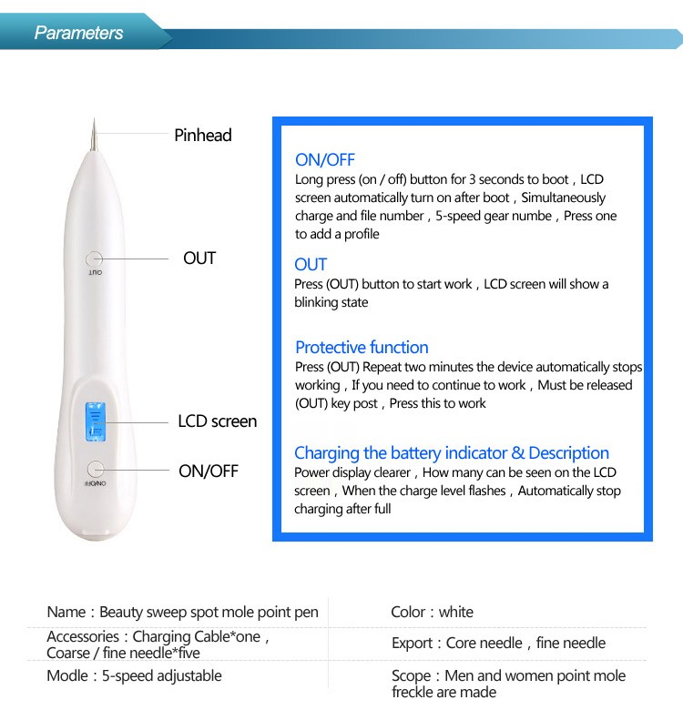Best selling products 2017 in usa High quality freckle removal /mole removal pen /plasma pen for pigment correcting spot
