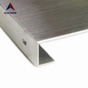 ALUCOONE Brushed Finish Stainless Steel Composite Panel For Escalator And Elevator Cladding