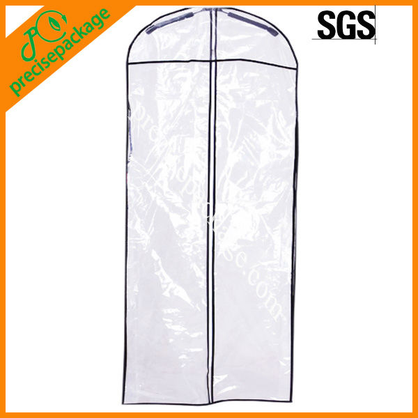 Waterproof clear pvc plastic wedding dress covers(PRG-819)