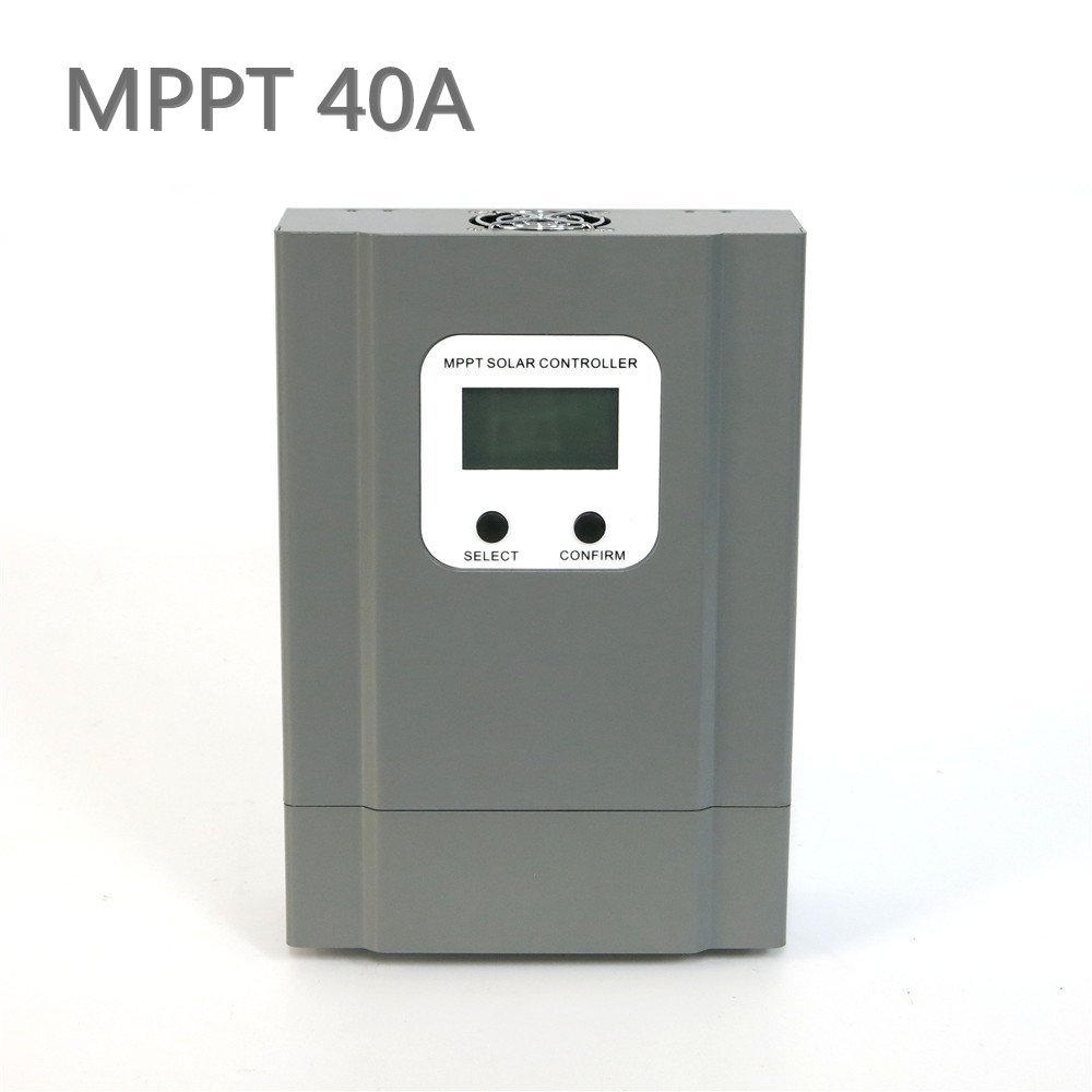 Y-SOLAR MPPT 20A 30A 40A Solar Charge Controller DC12V/24V/36V/48V Automatic Recognition With Blue-backlight LCD Dsplay (40A)