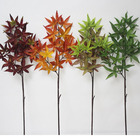 Fall colored artificial maple leaf house party banquet decor art multi-use maple Leaf artificial maple tree branches and leaves