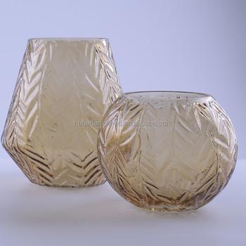 Handmade Amber Color Glass Vase Buy Amber Color Glass Vasecheap
