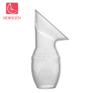 Horigen Breastfeeding pump liquid breast milk collector babies portable silicone comfortable manual breastmilk pump