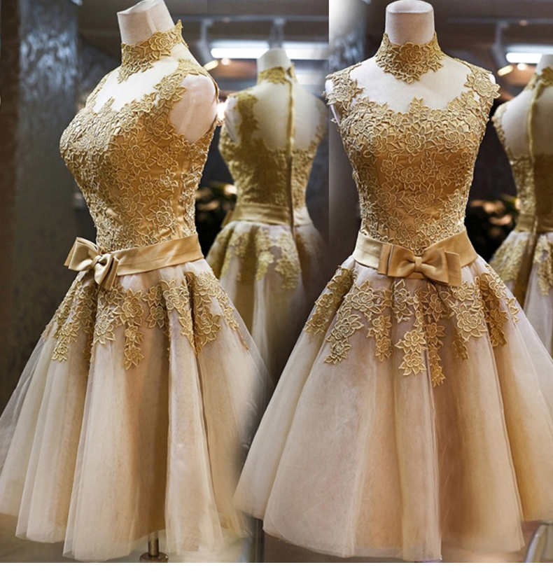 2016 Plus size gold bridesmaid dresses sexy Lace ...