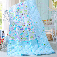 Bush embossed diamond velvet fleece summer silk baby quilt