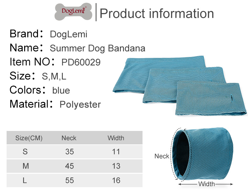 Instant Cooling Pet Bandana Dog Scarf Bulldog Summer Cooling Towel Wrap