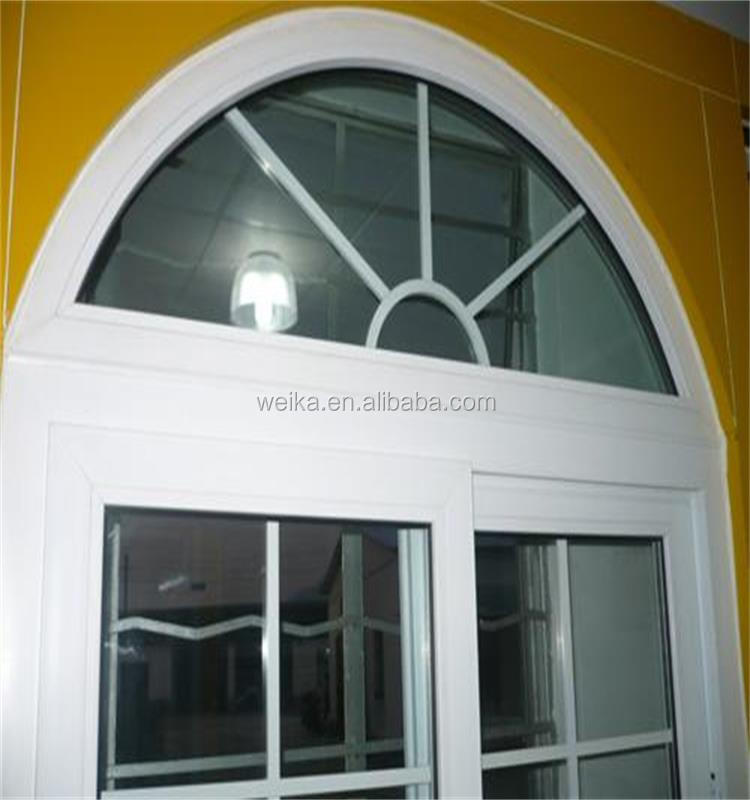 Half moon and fixed windows casement window pvc window