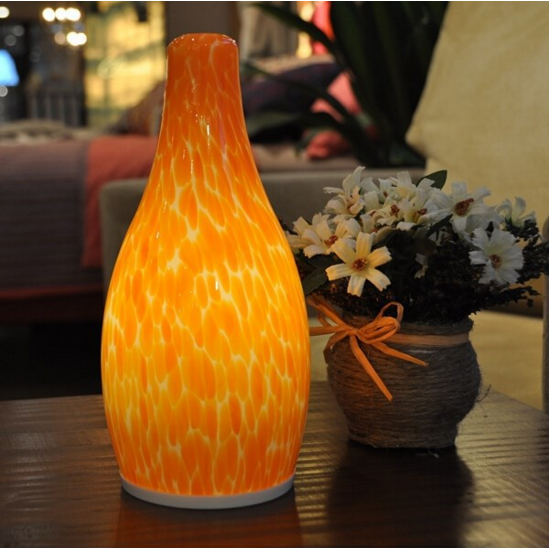 Kerosene Decorative Color Glass Lamp with Shade