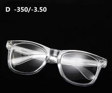 Классические Прозрачные очки для близорукости, мужские и женские очки с прозрачными линзами, очки по рецепту-1-1,5-2-2,5-3-3,5-4(Китай)
