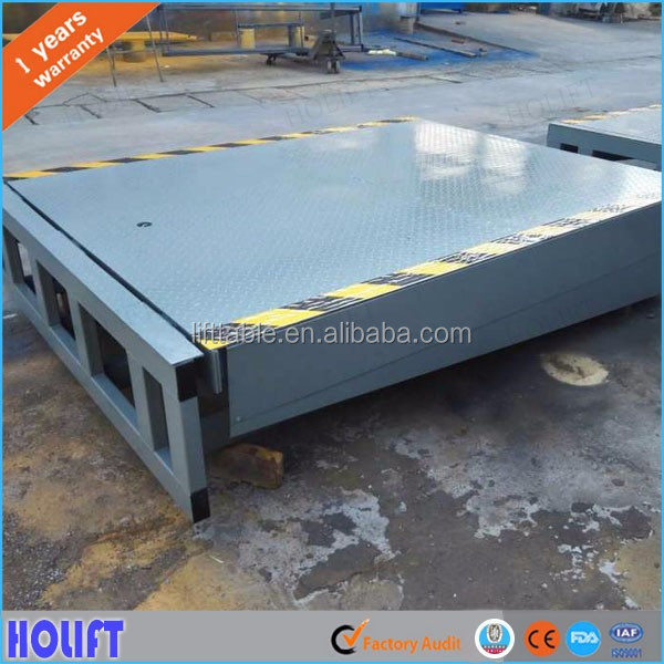 Easy operated 6-10ton container loading unloading equipment stationary dock ramp used for truck