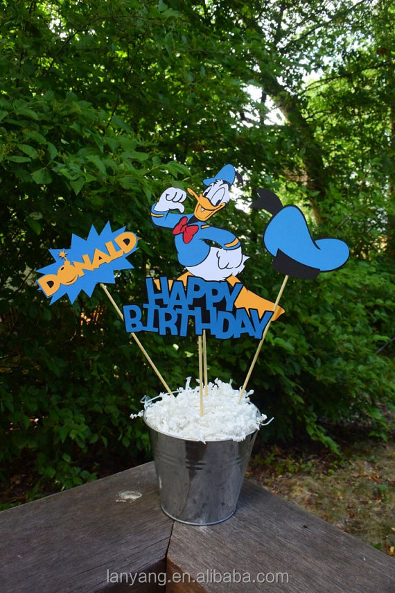 Donald Duck Mickey Mouse Birthday Decorations cake topper