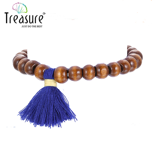 Indian Buddism prayer wooden beads elastic bracelet jewelry wholesale 2016
