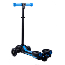 Rechargeable folding electric kick jet smart board scooter