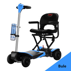 Handicapped outdoor four wheel folding electric mobility scooter with Lithium battery from China factory wholesale
