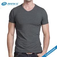 Custom High Quality Sleeveless Men Factory Price V-Neck T-Shirts