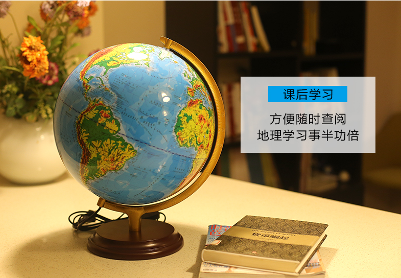 Wereldbol Met Licht : Hm g047l 32 cm hoge kwaliteit educatief wereld lamp globe houten